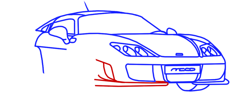 Learn easy to draw Noble M600 step 10