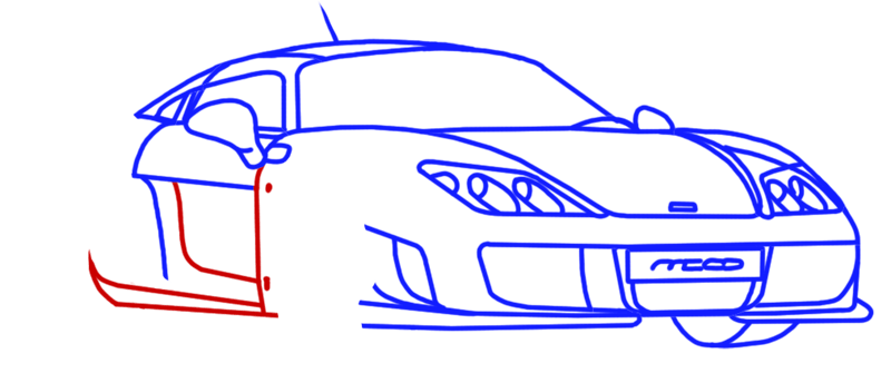 Learn easy to draw Noble M600 step 11