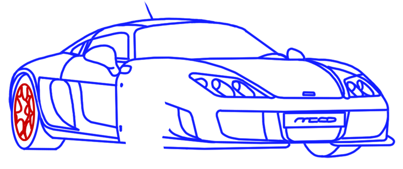 Learn easy to draw Noble M600 step 13
