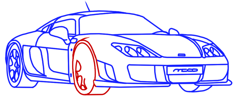 Learn easy to draw Noble M600 step 14