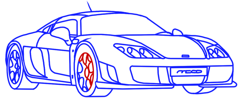 Learn easy to draw Noble M600 step 15