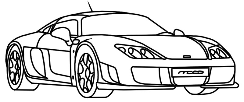 Learn easy to draw Noble M600 step 16