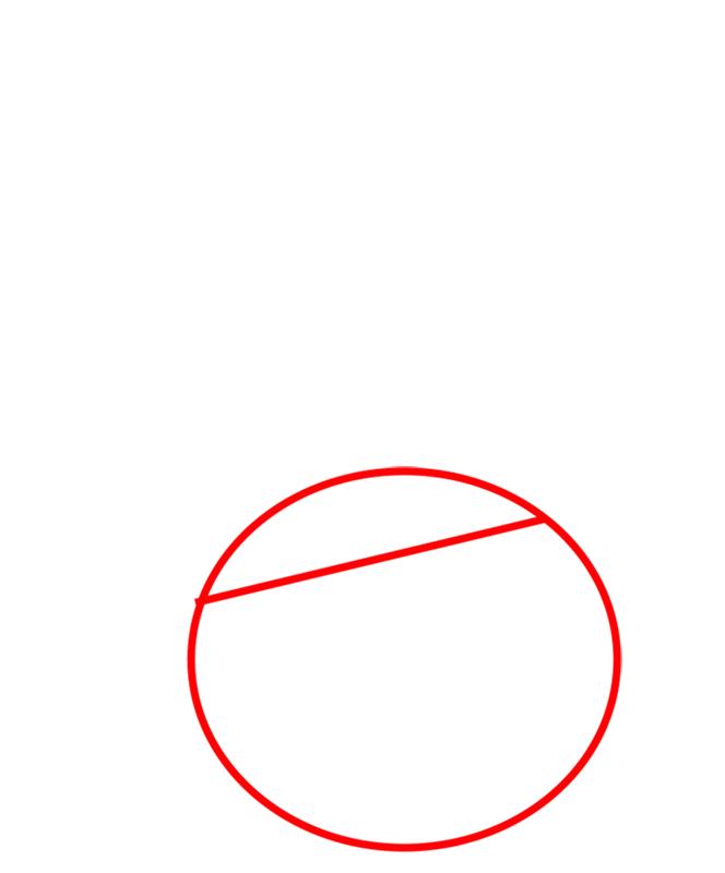 Learn easy to draw Orange Bird step 01