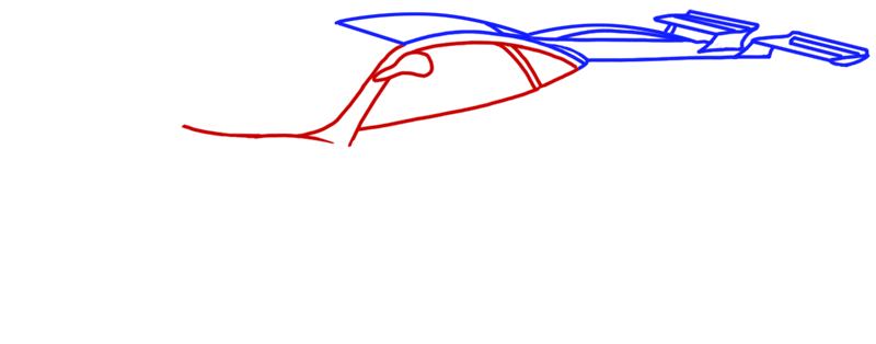 Learn easy to draw Pagani Zonda C12 step 05