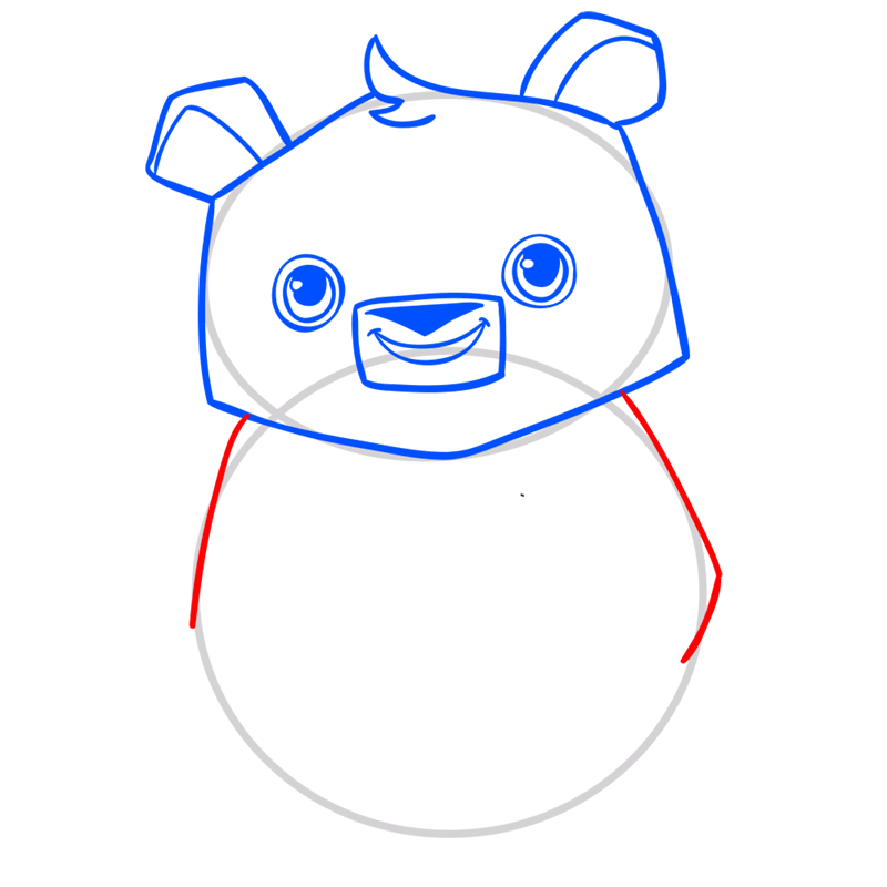 Learn easy to draw Panda step 06
