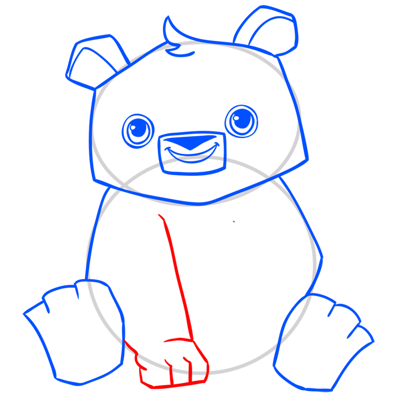 Learn easy to draw Panda step 08