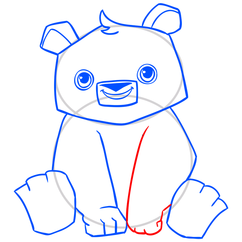 Learn easy to draw Panda step 09