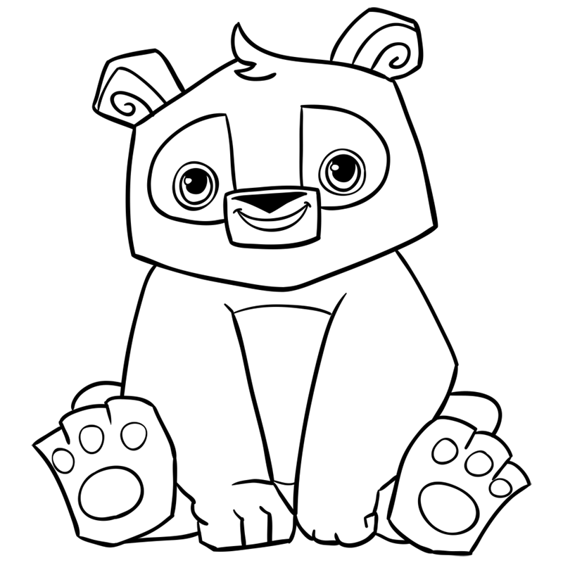 Learn easy to draw Panda step 13