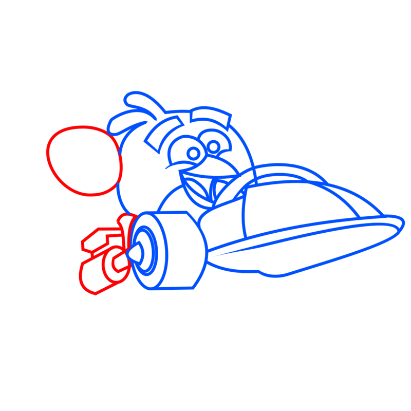 Learn easy to draw Parallax Car step 05