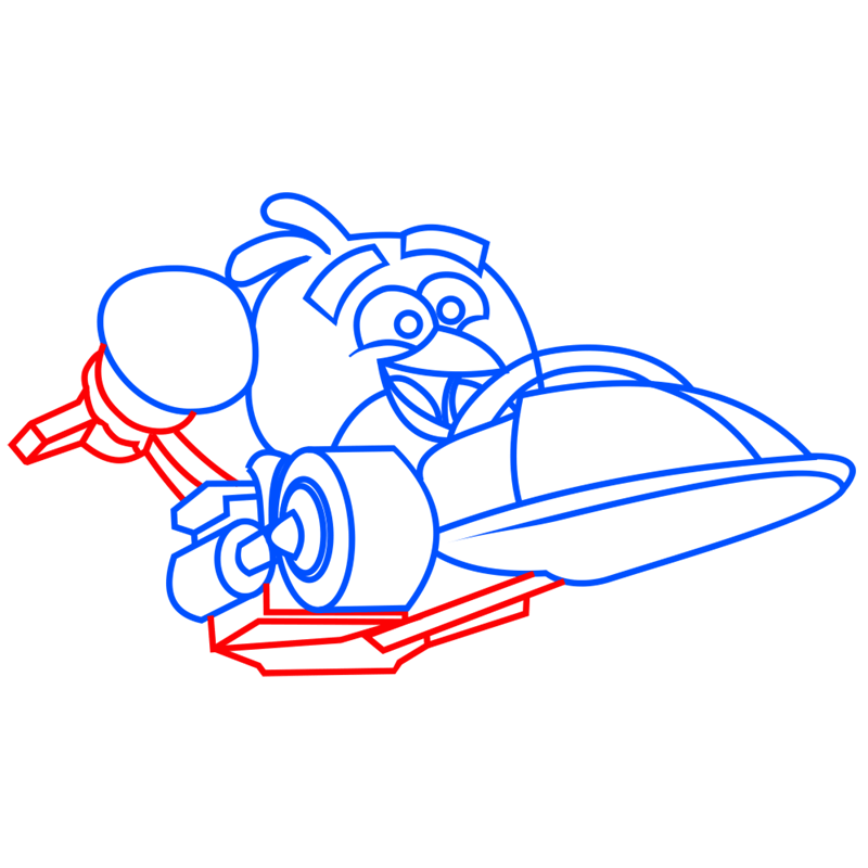 Learn easy to draw Parallax Car step 06