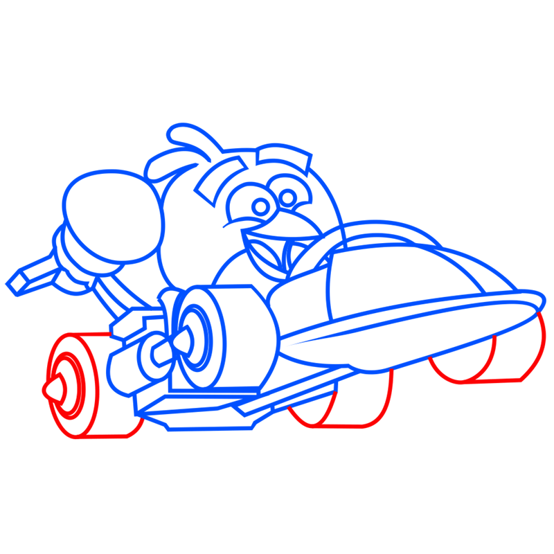 Learn easy to draw Parallax Car step 07