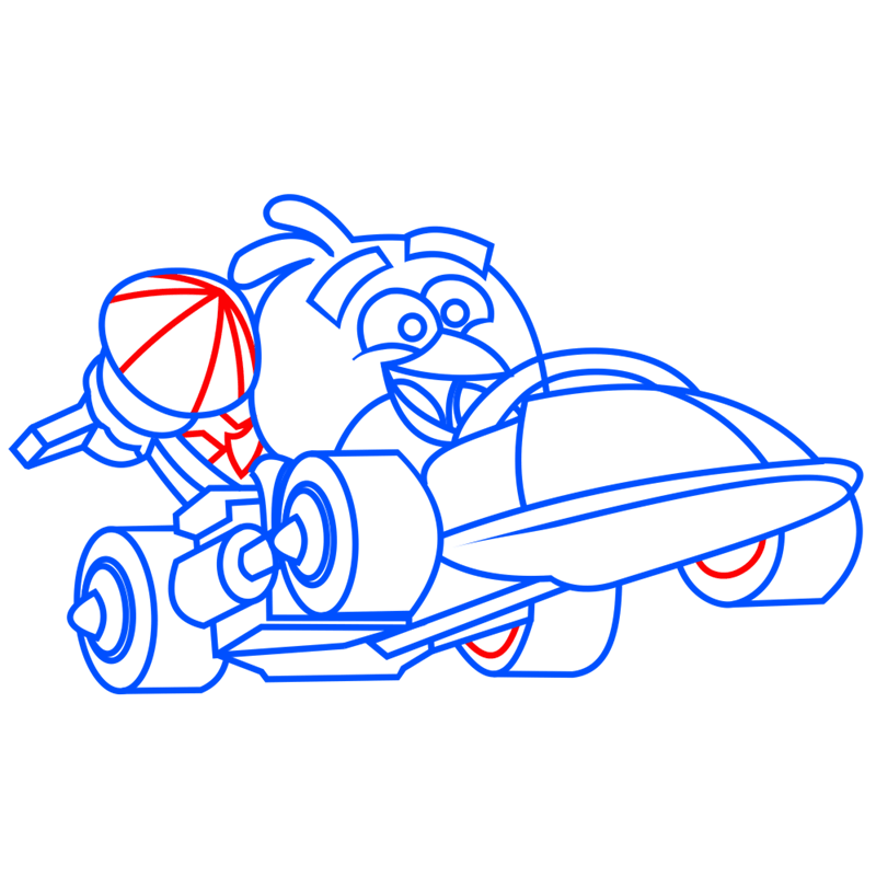 Learn easy to draw Parallax Car step 08