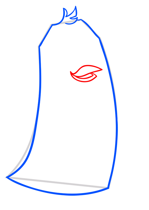 Learn easy to draw Penguin step 04