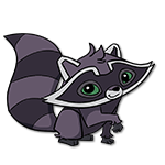 Learn easy to draw Raccoon icon