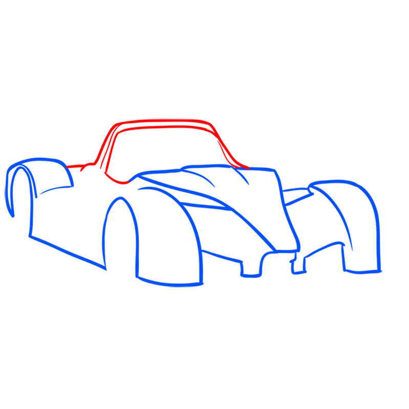 Learn easy to draw Radical SR8 RSX step 04