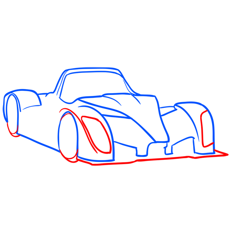 Learn easy to draw Radical SR8 RSX step 05