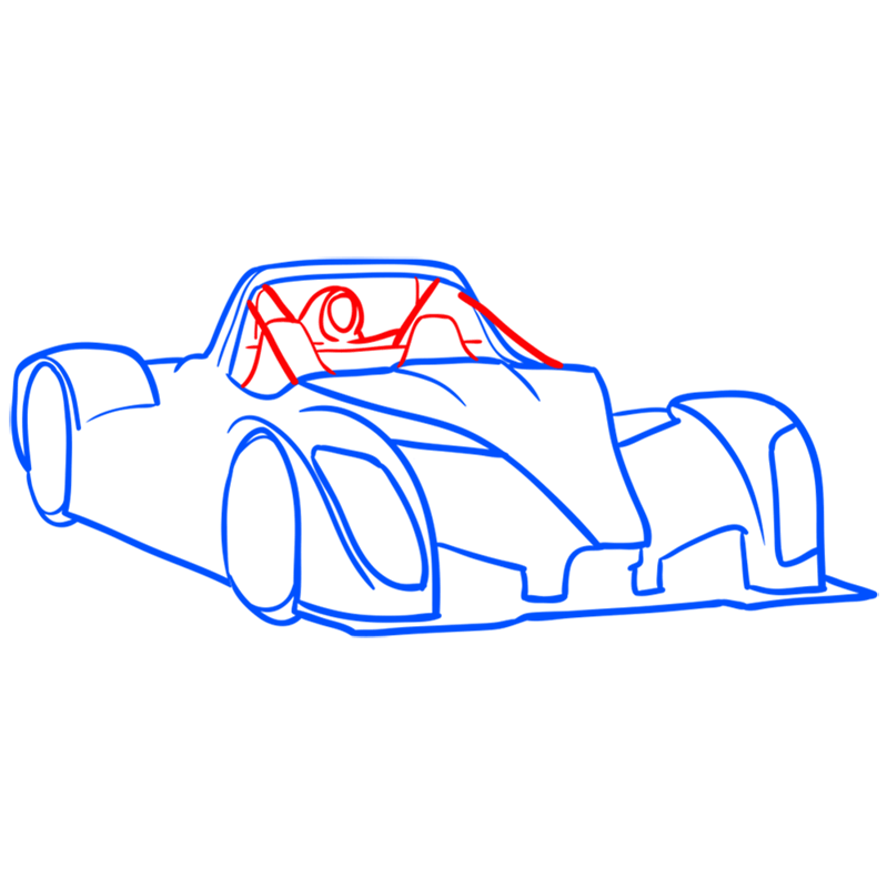 Learn easy to draw Radical SR8 RSX step 06