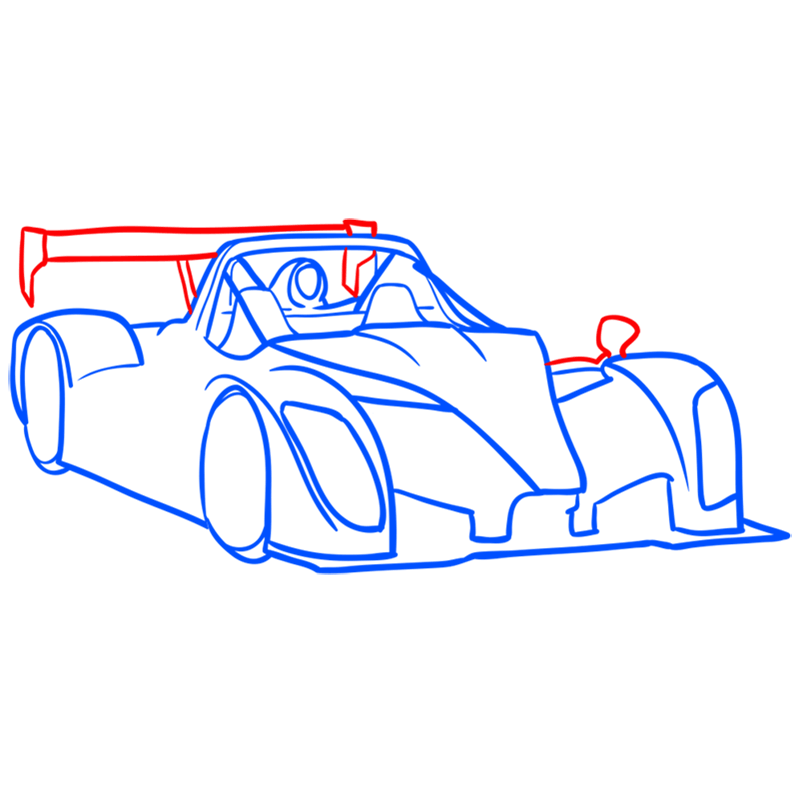 Learn easy to draw Radical SR8 RSX step 07