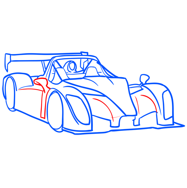 Learn easy to draw Radical SR8 RSX step 08