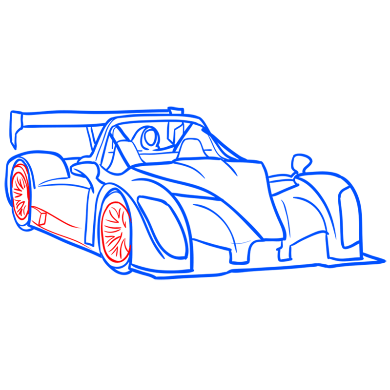 Learn easy to draw Radical SR8 RSX step 09