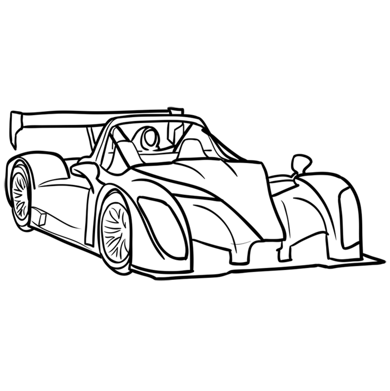Learn easy to draw Radical SR8 RSX step 10