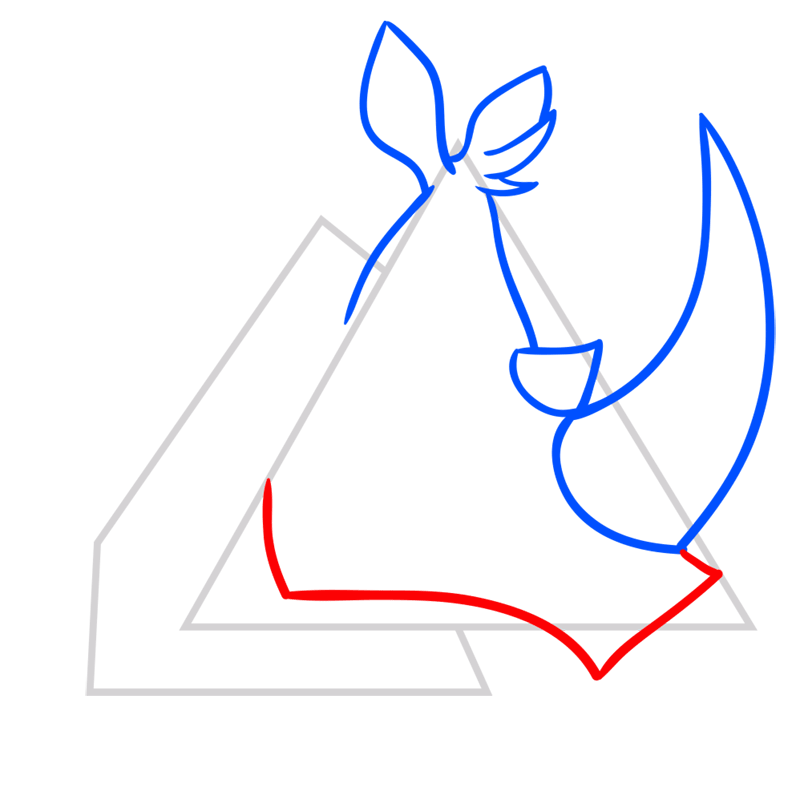 Learn easy to draw Rhino step 04