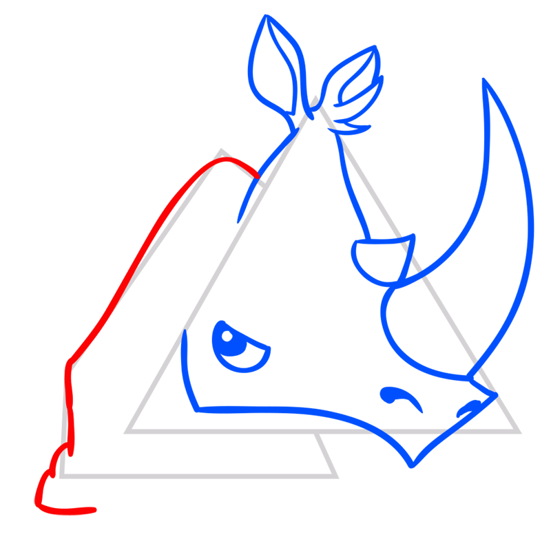 Learn easy to draw Rhino step 06