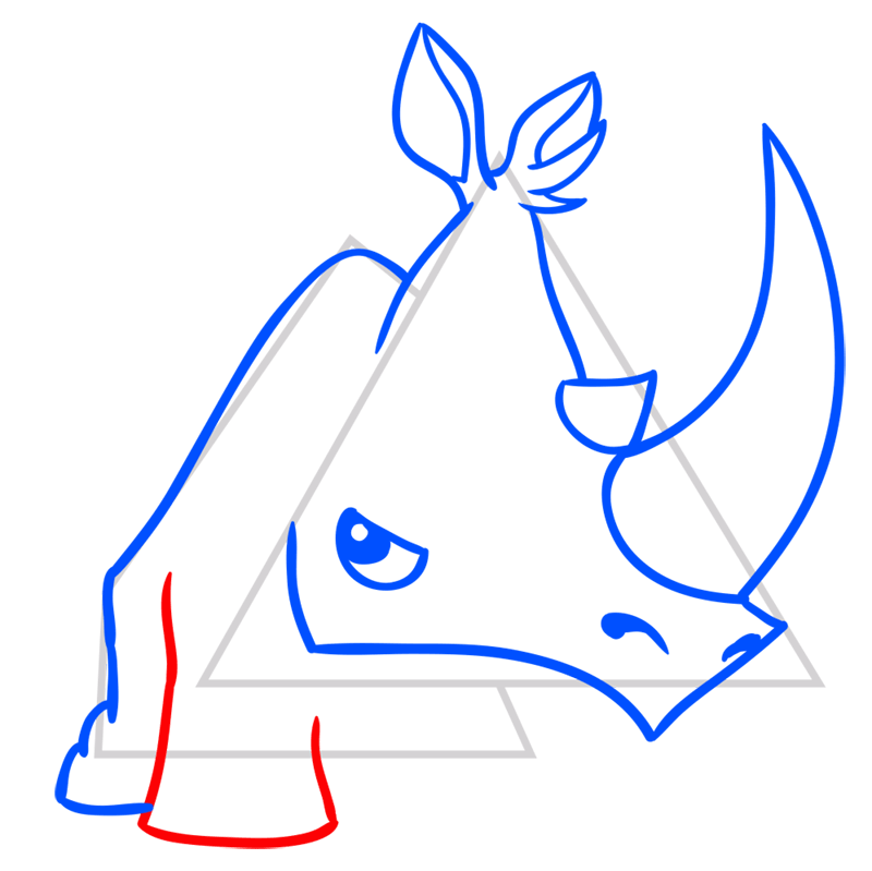 Learn easy to draw Rhino step 07