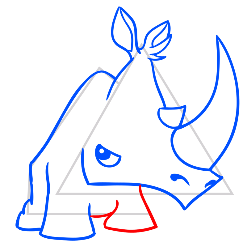 Learn easy to draw Rhino step 08