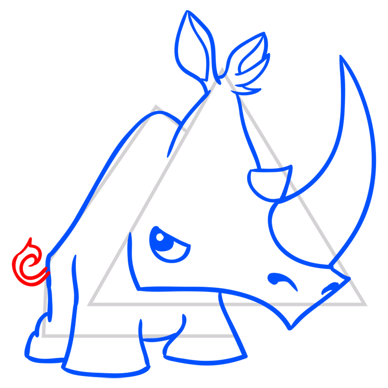 Learn easy to draw Rhino step 09