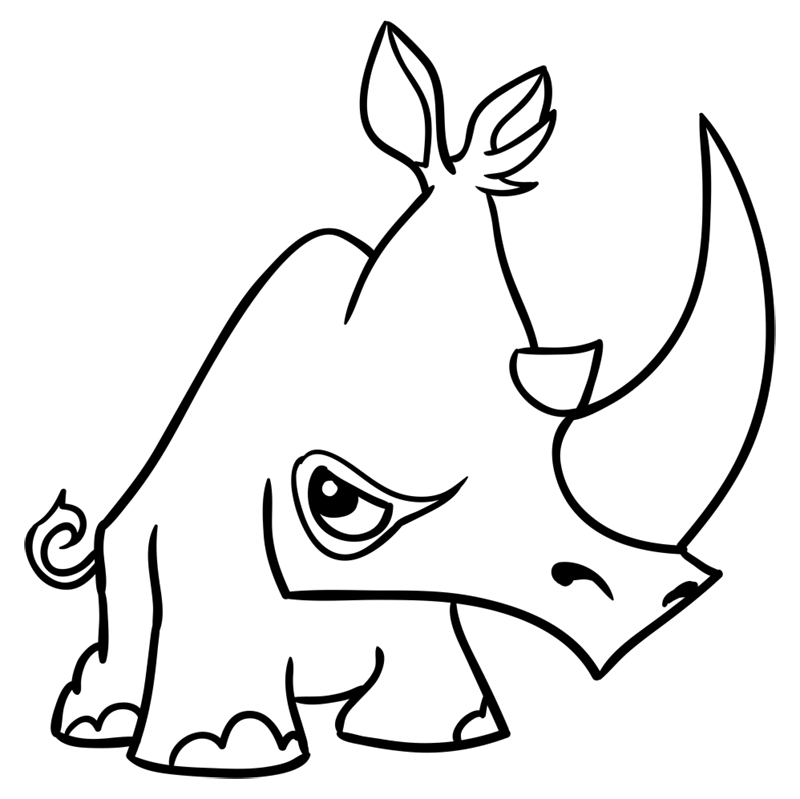 Learn easy to draw Rhino step 11