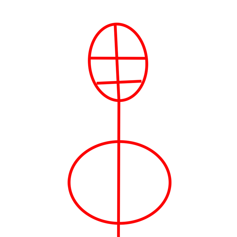 Learn easy to draw Scarlett Johansson step 01