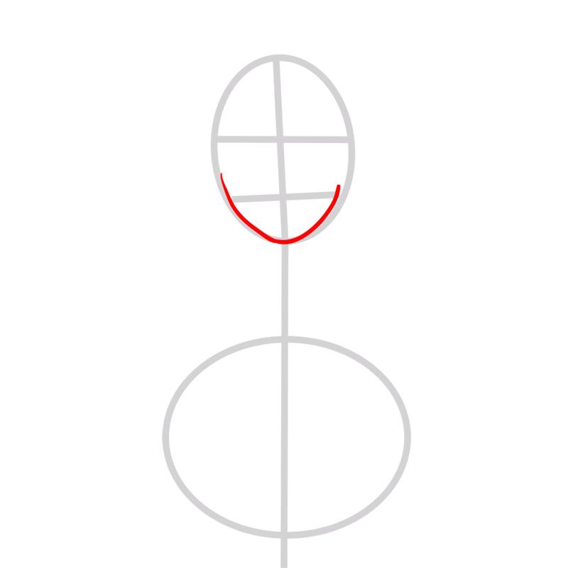 Learn easy to draw Scarlett Johansson step 02