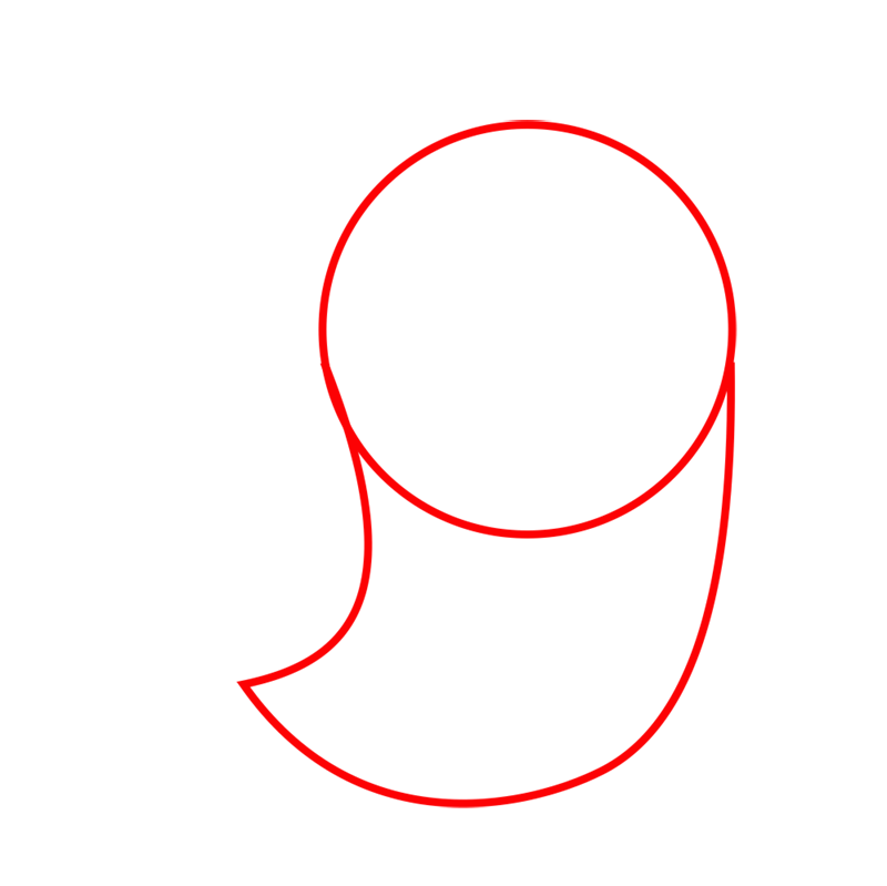 Learn easy to draw Seal step 01