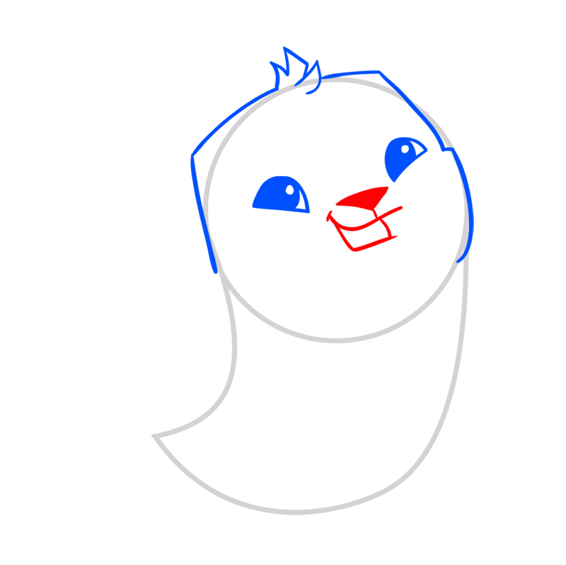 Learn easy to draw Seal step 04