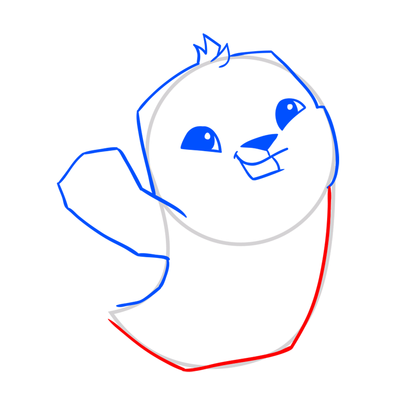Learn easy to draw Seal step 06