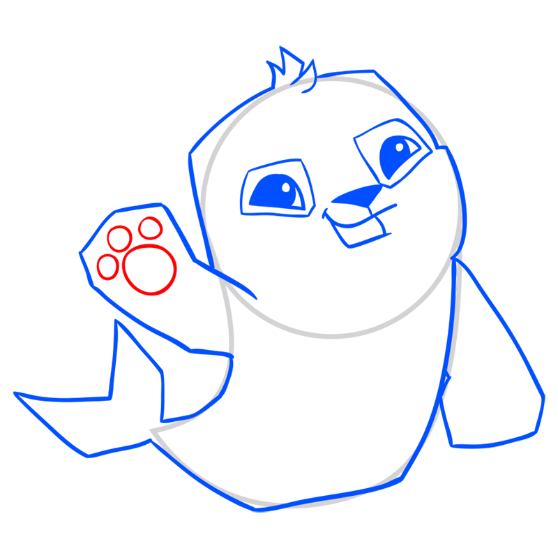Learn easy to draw Seal step 10