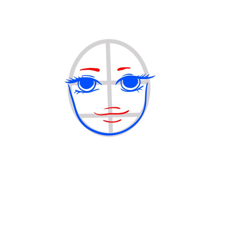 Learn easy to draw Selena Gomez step 04