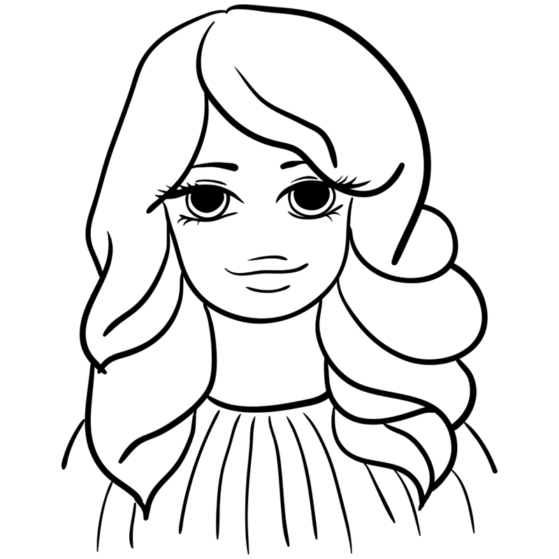 Learn easy to draw Selena Gomez step 09