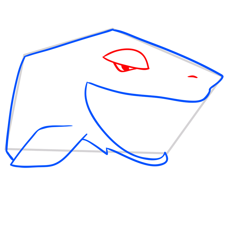 Learn easy to draw Shark step 05