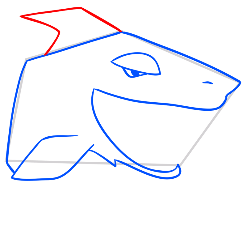 Learn easy to draw Shark step 06