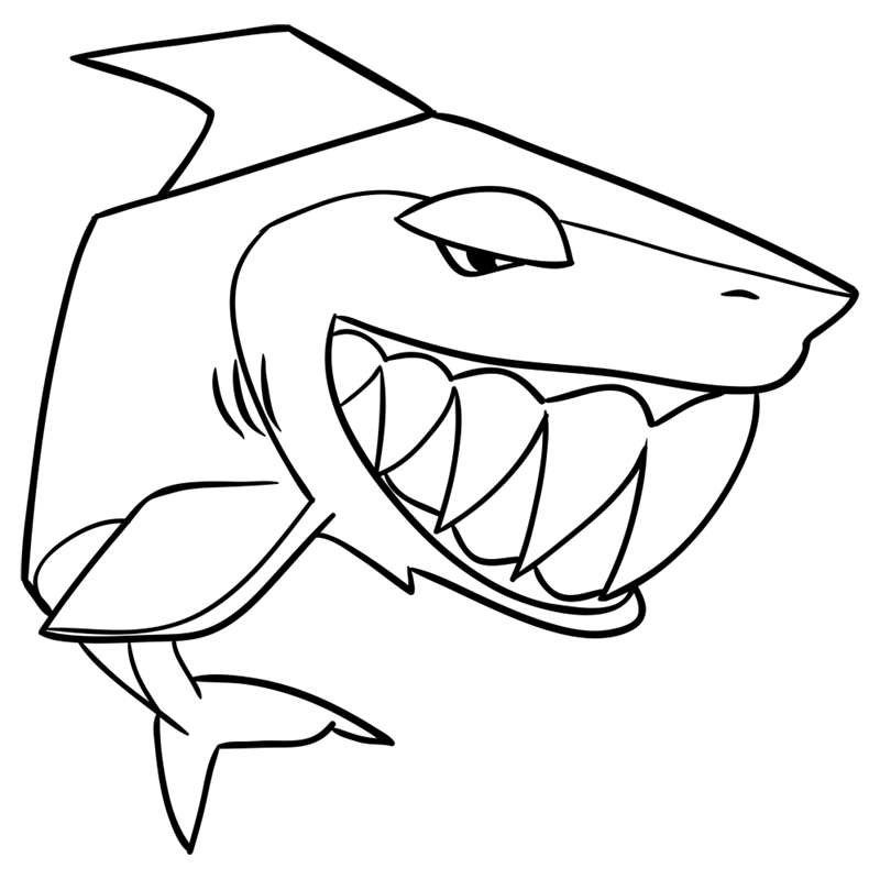 Learn easy to draw Shark step 11