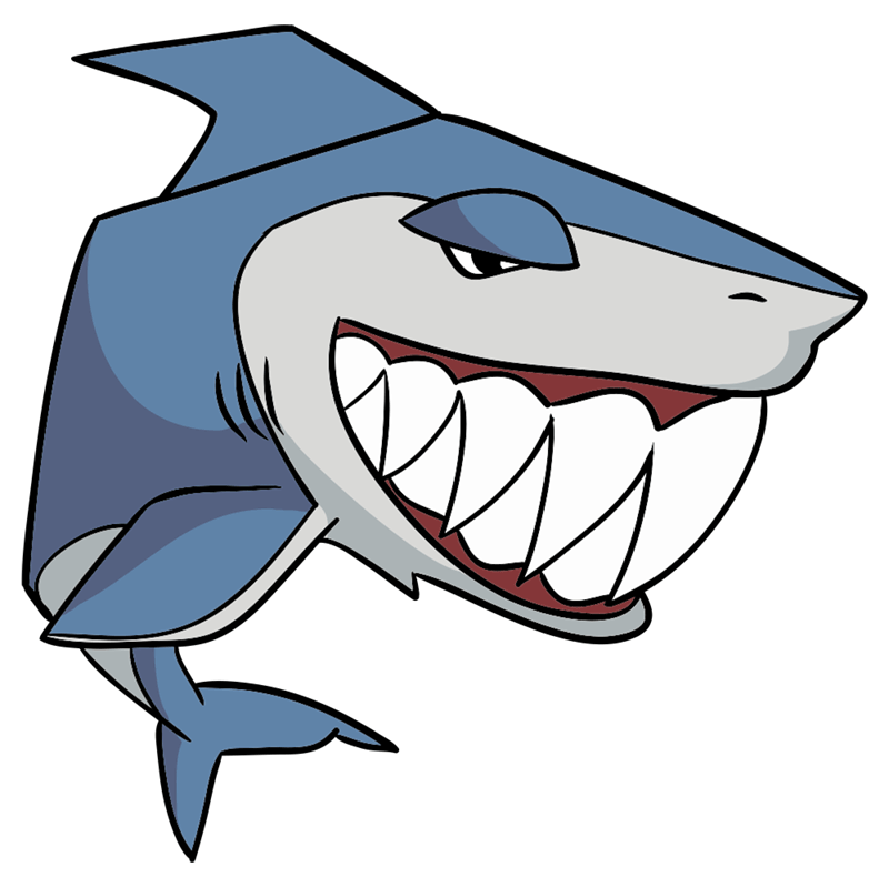 Learn easy to draw Shark step 12