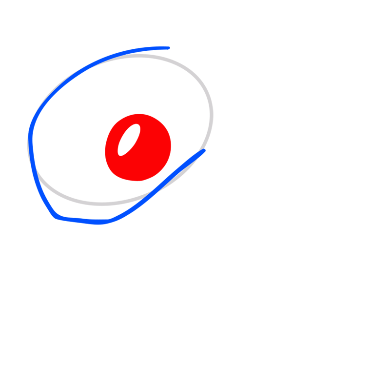 Learn easy to draw Snake step 03