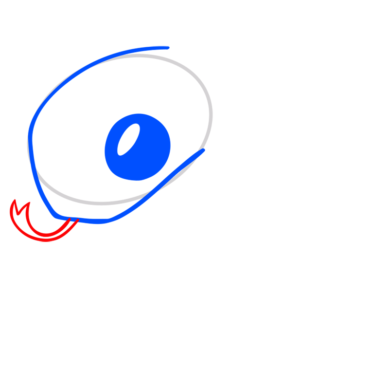 Learn easy to draw Snake step 04