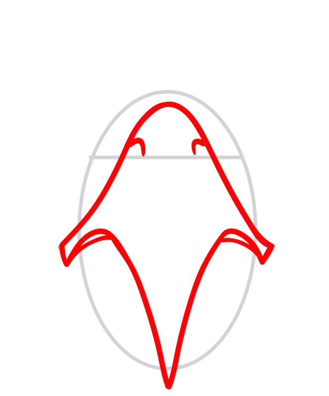 Learn easy to draw Space Eagle step 02