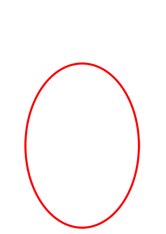 Learn easy to draw Space Egg step 01
