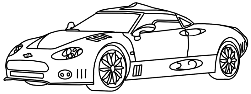 Learn easy to draw Spyker C8 step 00