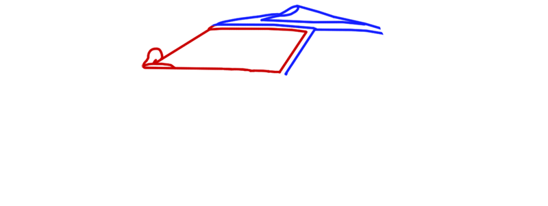 Learn easy to draw Spyker C8 step 03