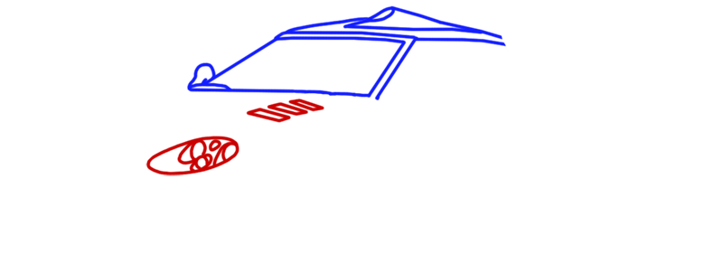 Learn easy to draw Spyker C8 step 04